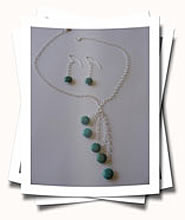 Stabilized Turquoise 5 Tier Necklace and Earrings