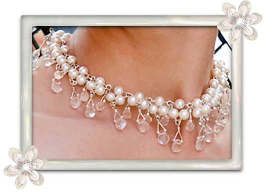 Close Up Bridal Necklace